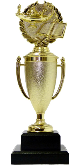 Lamp Of Knowledge Lamp Wreath Trophy 300mm