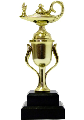 Lamp Of Knowledge Lamp Trophy 215mm