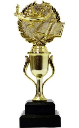 Lamp Of Knowledge Lamp Wreath Trophy 240mm