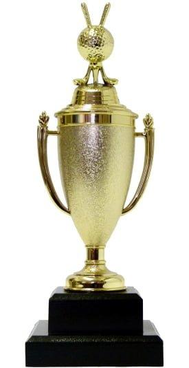 Golf Ball & Clubs Trophy 280mm