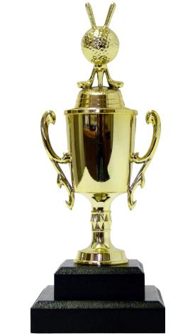 Golf Ball & Clubs Trophy 240mm