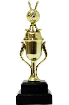 Golf Ball & Clubs Trophy 215mm