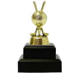Golf Balls & Clubs Trophy 115mm