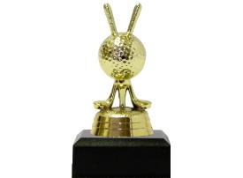 Golf Balls & Clubs Trophy 95mm