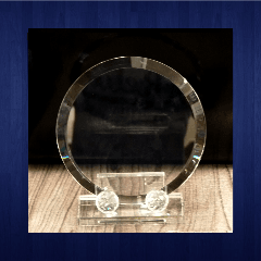 Glass Trophy 180mm (2piece)