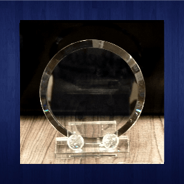 Glass Trophy 210mm (2piece)