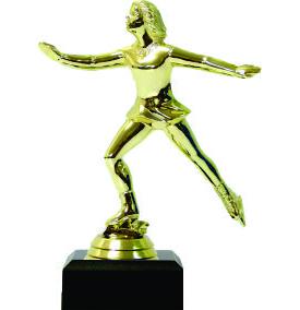 Ice Skater Female Trophy 160mm