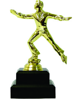 Ice Skater Male Trophy 160mm