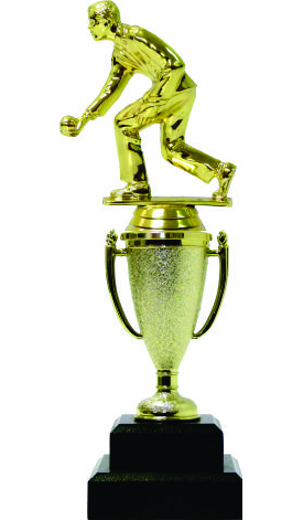 Bowls Lawn Bowler Male Trophy 245mm