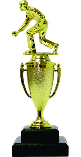 Bowls Lawn Bowler Male Trophy 265mm