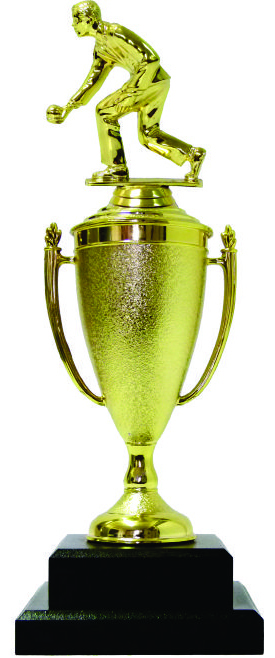 Bowls Lawn Bowler Male Trophy 345mm