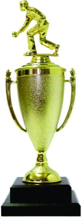 Bowls Lawn Bowler Male Trophy 385mm
