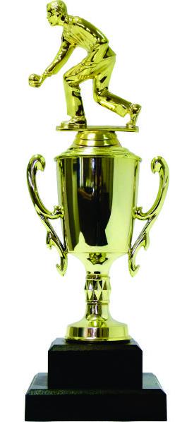 Bowls Lawn Bowler Male Trophy 305mm