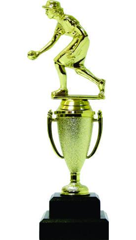 Bowls Lawn Bowler Female Trophy 245mm