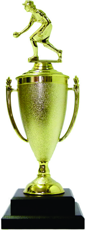 Bowls Lawn Bowler Female Trophy 385mm