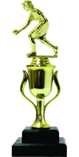 Bowls Lawn Bowler Female Trophy 265mm