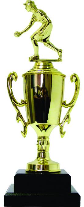 Bowls Lawn Bowler Female Trophy 345mm