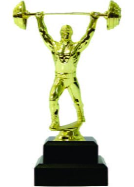 Weight Lifter Male Trophy 200mm