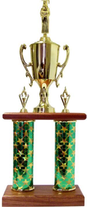 Graduate Male Female Column Trophy 675mm