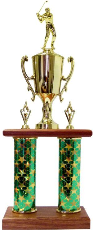 Golf Male Column Trophy 690mm