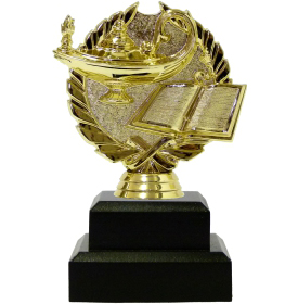 Lamp Of Knowledge Wreath Trophy 140mm