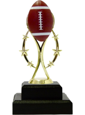 Rugby Colour Ball Trophy 195mm