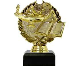 Lamp Of Knowledge Wreath Trophy 120mm