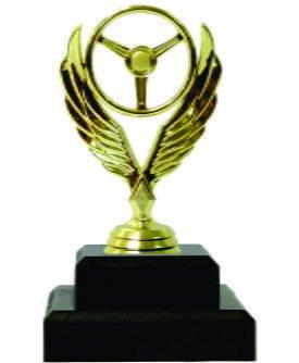 Winged Steering Wheel Trophy 160mm