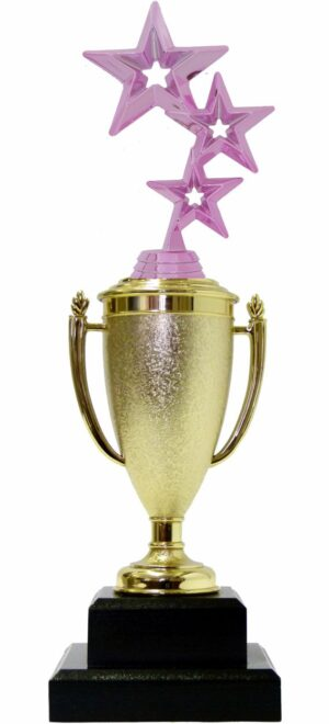 3 Stars Trophy PINK 350mm