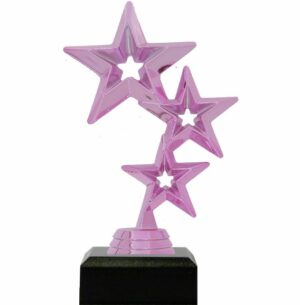 3 Stars Trophy PINK 175mm