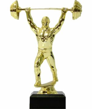 Weight Lifter Male Trophy 175mm